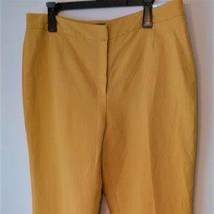 Kasper NWT Linen Blend Dress Pants Trouser Yellow